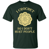 I Crochet So I Don't Hurt People Custom Ultra Cotton T-Shirt - Crafter4Life - 4