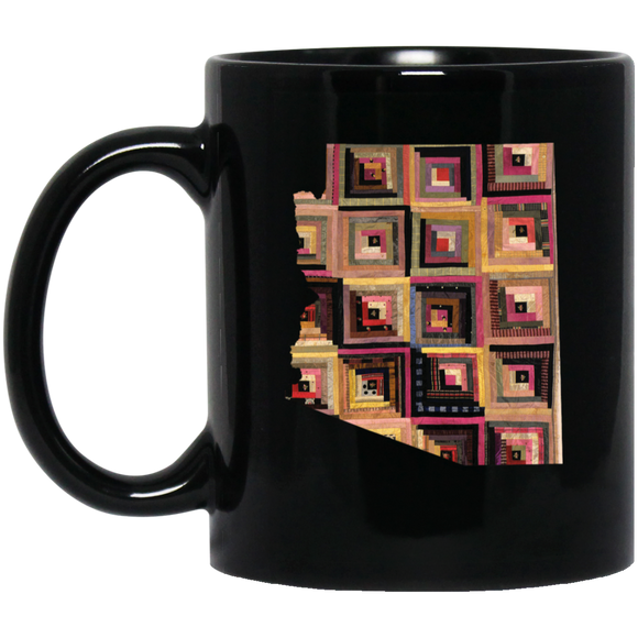 Arizona Quilter Black Coffee Mugs