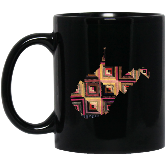West Virginia Quilter Black Mugs