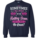 Put the Knitting Down Crewneck Sweatshirts - Crafter4Life - 4