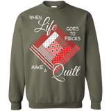 Make a Quilt (red) Crewneck Sweatshirts - Crafter4Life - 7
