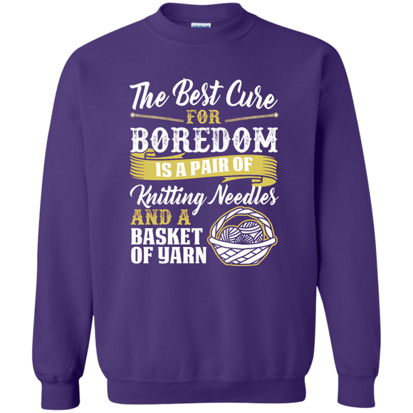 The Best Cure for Boredom is Knitting Crewneck Pullover Sweatshirt