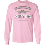 I Am Happiest When I'm Knitting Long Sleeve Ultra Cotton T-Shirt - Crafter4Life - 12