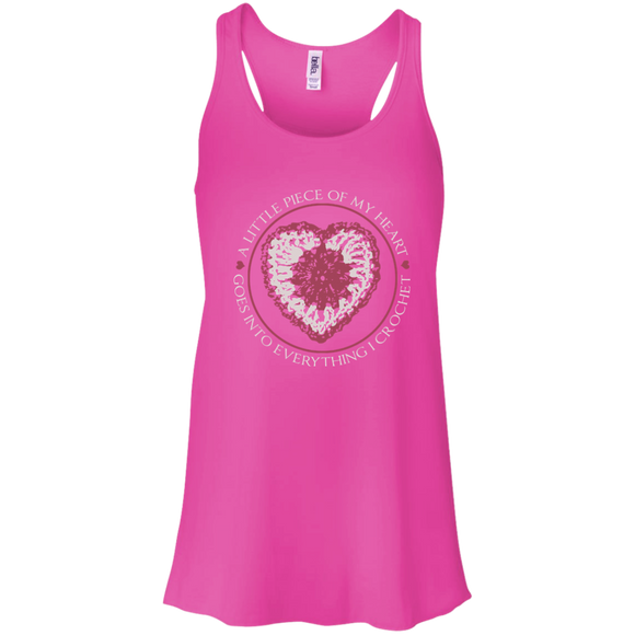 Piece of My Heart (Crochet) Flowy Racerback Tank