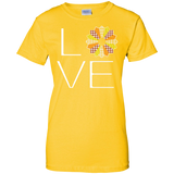 LOVE Quilting (Fall Colors) Ladies Custom 100% Cotton T-Shirt - Crafter4Life - 4