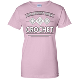 I Am Happiest When I Crochet Ladies Custom 100% Cotton T-Shirt - Crafter4Life - 7