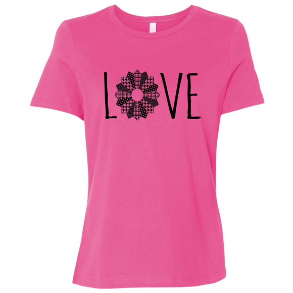 LOVE Quilt  Ladies' Relaxed Jersey Short-Sleeve T-Shirt
