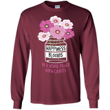 Happiness Blooms with Crafts Long Sleeve Ultra Cotton T-Shirt - Crafter4Life - 7