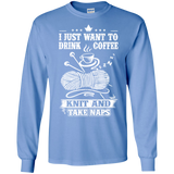 Coffee-Knit-Nap Long Sleeve Ultra Cotton T-Shirt - Crafter4Life - 6