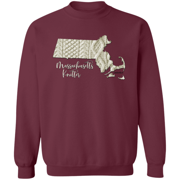 Massachusetts Knitter Crewneck Pullover Sweatshirt