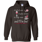 A Ball of Yarn a Glass of Wine Hoodie - Crafter4Life - 4