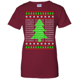 Binary Merry Christmas & Happy New Year! Ladies 100% Cotton T-Shirt