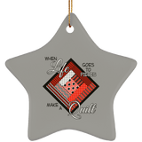 Make a Quilt (Red) Ceramic Ornaments