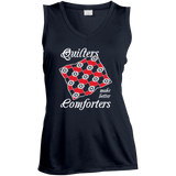 Quilters Make Better Comforters Ladies Sleeveless V-Neck - Crafter4Life - 1