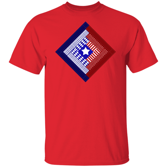 Patriotic Log Cabin Square T-Shirt