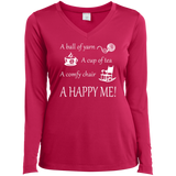 A Happy Me Ladies Long Sleeve V-neck Tee - Crafter4Life - 3