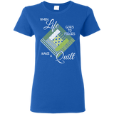 Make a Quilt (Greenery) Ladies' T-Shirt