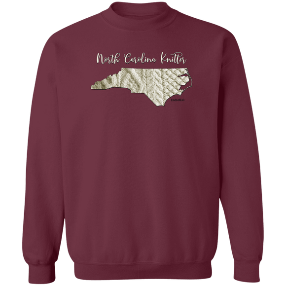 North Carolina Knitter Crewneck Pullover Sweatshirt