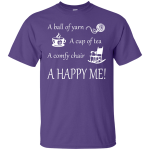 A Happy Me Custom Ultra Cotton T-Shirt - Crafter4Life - 1