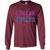 I Dream Quilts Long Sleeve Ultra Cotton T-Shirt - Crafter4Life - 5
