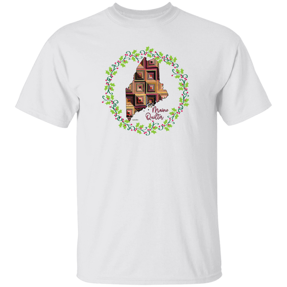 Maine Quilter Christmas T-Shirt