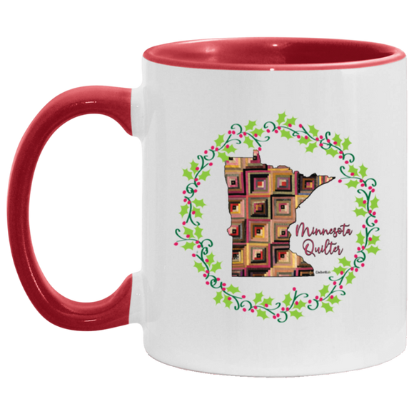 Minnesota Quilter Christmas Accent Mug