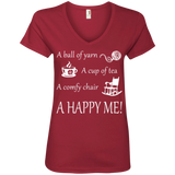 A Happy Me Ladies V-neck Tee - Crafter4Life - 4