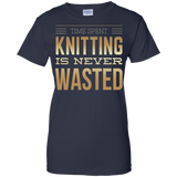 Time Spent Knitting Ladies Custom 100% Cotton T-Shirt - Crafter4Life - 7