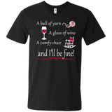 A Ball of Yarn a Glass of Wine Men's and Unisex T-Shirts - Crafter4Life - 9