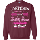 Put the Knitting Down Crewneck Sweatshirts - Crafter4Life - 3
