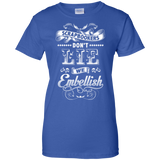 Scrapbookers Don't Lie Ladies Custom 100% Cotton T-Shirt - Crafter4Life - 12