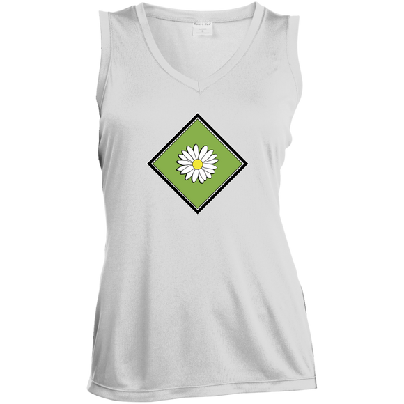 Daisy Field Ladies Sleeveless Moisture Absorbing V-Neck