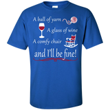 A Ball of Yarn a Glass of Wine Men's and Unisex T-Shirts - Crafter4Life - 6