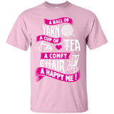 A Ball of Yarn, A Happy Me Custom Ultra Cotton T-Shirt - Crafter4Life - 7