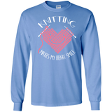 Knitting Makes My Heart Smile LS Ultra Cotton T-Shirt