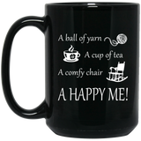 HAPPY ME Black Mugs