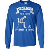 Waiting at the Fabric Store - Personalized Unisex T-Shirts