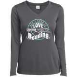 Time for Beading Ladies Long Sleeve V-neck Tee - Crafter4Life - 7