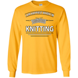 I Am Happiest When I'm Knitting Long Sleeve Ultra Cotton T-Shirt - Crafter4Life - 1