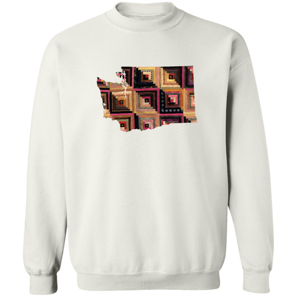 Washington Quilter Crewneck Pullover Sweatshirt