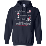 A Ball of Yarn a Glass of Wine Hoodie - Crafter4Life - 3