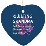 Quilting Grandma Ornaments
