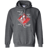 Make a Quilt (red) Pullover Hoodies - Crafter4Life - 4