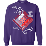 Make a Quilt (red) Crewneck Sweatshirts - Crafter4Life - 6