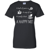 A Happy Me Ladies Custom 100% Cotton T-Shirt - Crafter4Life - 2