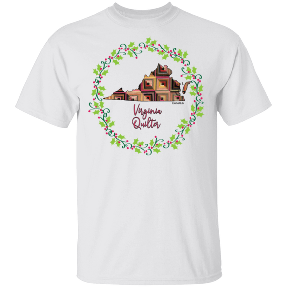 Virginia Quilter Christmas T-Shirt