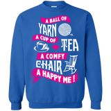 A Ball of Yarn, A Happy Me Crewneck Sweatshirts - Crafter4Life - 6