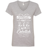 Scrapbookers Don't Lie Ladies V-neck Tee - Crafter4Life - 2