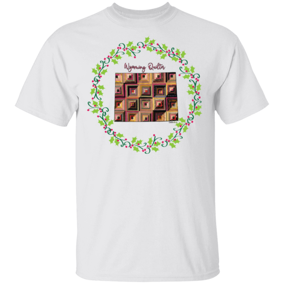 Wyoming Quilter Christmas T-Shirt