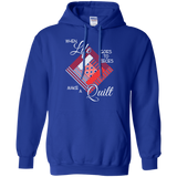 Make a Quilt (red) Pullover Hoodies - Crafter4Life - 8